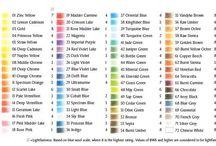 farveblyanter farvekort