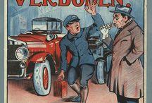 Oude posters en illustraties