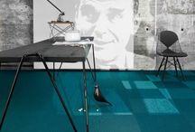 Modré podlahy / Blue floors