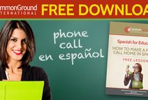 Spanish Resources for Educators / Common Ground Int'l has resources for Spanish class plans and for communication with parents who don't speak English.