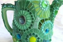 mozaiek - theepotten
