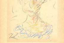 Γιώργος Μπουζιάνης χρωματιστά (μολύβια George Busianis colored pencils) / Μετά τις σπουδές του στη Σχολή Καλών Τεχνών στην Αθήνα, το 1906, ο Γ.ΜΠΟΥΖΙΑΝΗΣ μεταβαίνει στη Γερμανία, στην Ακαδημία του Μονάχου και λίγο αργότερα στο Βερολίνο όπου γνωρίζεται με τον ιμπρεσιονιστή ΜΑΞ ΛΙΜΠΕΡΜΑΝ. Το 1917 παρακολουθούμε τη στροφή του στον εξπρεσιονισμό ενώ η συμμετοχή του στα καλλιτεχνικά δρώμενα της εποχής του τεκμηριώνεται μέσα από την αναφορά στις ομαδικές εκθέσεις του, καθώς και στην σχέση του με το ρεύμα του γερμανικού εξπρεσιονισμού.