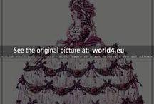 Regency era court presentation dresses