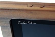 Detailed views / Detail views of the wooden iPad holder TimberTab