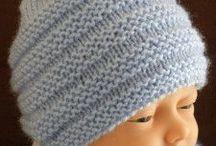 bonnet tricoté bébé