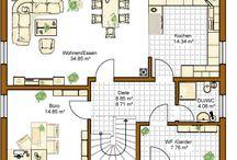 Grundrisse und Häuser