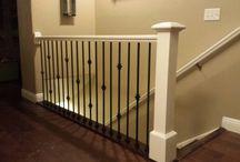 Basement Stair Railing Ideas Iron Balusters