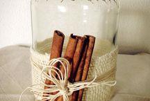 Porta candele / Barattolo decorato con spezie