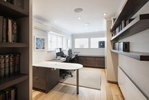 Home Office, N2 / Home Office in stained grey oak and matt lacquer