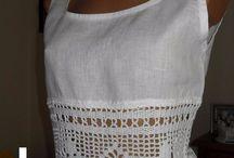 blusas con aplicación de crochet