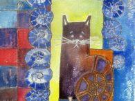 """Cats"" by Kamila Guzal-Pośrednik / I show here drawings, paintings, batiks with cats."