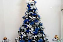 Árvores de Natal / Ideias para árvores e decoração natalina