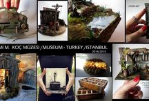 Rahmi M Koç Müzesi / 2014 -2015 museum ....... All of these works made of paper and all of them designed by me PAPER ART