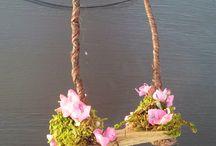 Swing for fairy gardens