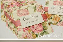 Romantyczne kwiaty - zaproszenia i dodatki / Zaproszenia w odcieniach pastelowego różu.