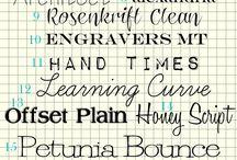 Inspiration | Fonts