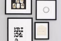 gallery wall ideas / by Pamela Carpenter