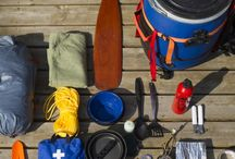 Camping, canoeing