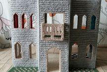 Castle plastic canvas doll house