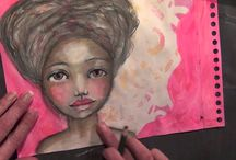 My YouTube video's / Mixed Media Girls and Art
