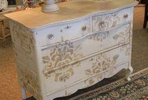 Stencilled furniture