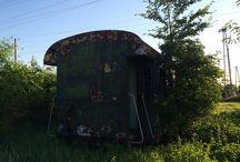 Vasúti kocsi -- Refurbished train wagon / How to transform an old wagog
