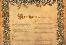 """Samhain - The Witches New Year / Samhain is a time of remembrance of those who have passed into the next life.  It is a time when the veil that separates the seen from the unseen is at it's thinnest.  During Samhain it is very easy to communicate with those """"other"""" realms.   Divination comes easy at this time of year."""