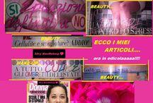 Magazine / riviste beauty &makeup / I miei articoli beauty e make-up