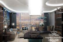 Современная квартира в стиле модерн в ЖК Легенда Цветного / В проекте дизайна интерьера много внимания уделено освещению в квартире в ЖК «Легенда Цветного». Люстры и светильники установлены практически в каждом уголке жилища. Это не только украшает пространство дома, но и создаёт особую атмосферу. Все комнаты выполнены в стиле модерн. Это направление соединяет в себе желание владельца к комфортной и красивой квартире.