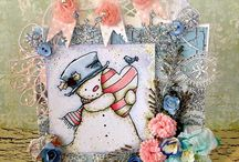 Digi Stamp Characters Cards by Julie Gleeson