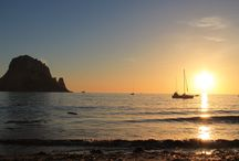 Cala D'Hort, Ibiza / Sunset at Cala D'Hort Ibiza, with views across to Es Vedra
