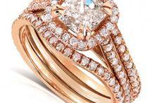 Cushion-cut, Halo Engagement Ring & Bridal Ring Set / New Engagement & Bridal Ring Set. Cushion-cut Diamond Halo. / by Kobelli.com