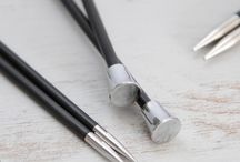 Knitting & Crochet Tools / Some of our favorite tools for knitting and crochet including needle and hook sets.