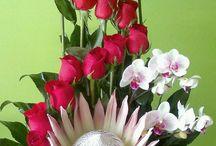 декор живыми цветами