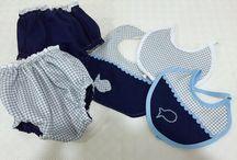 Baby presents I did / Presentes para bébés feitos por mim, em crochet e costura (sewing and crochet baby gifts)