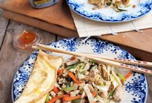 Chinese omelet wraps