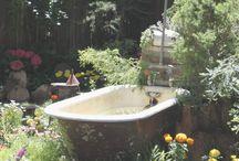 zahradní koupelna