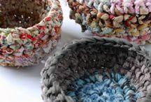 weaving, knitting, crochet