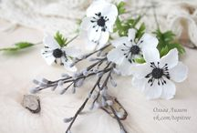 Flowers / My works. Flowers from cold porcelain and polymer clay. Only my foto, only handmade.