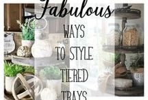 Tiered Trays and Stands / I'm crushing on tiered trays lately, here are some of my favorite ways to decorate with them!