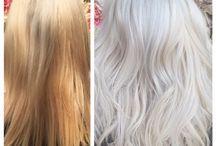 hair white silver
