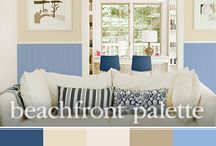 Summer Beach House Color Inspiration / Summertime makes us crave clean blue hues! They just feel right this time of year. Pair blue hues with sandy beiges or a crisp white and you'll have a beautiful, beachy feel in your beach house inspired space.  / by PPG Voice of Color