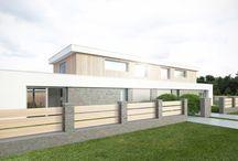 Studie dvojdomů na volné pozemky Sadová Brno / Pro našeho obchodního partnera jsme vypracovali studii jednoduchých dvojdomů s plochou střechou a prostornou terasou.