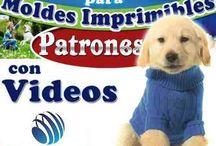 Moldes ropa para perros