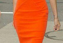 Orange Dress ... Mrs. V