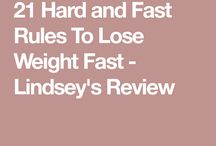 Weight loss rules