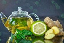 Bebida con limón y gengibre