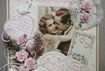 vintage kaarten huwelijk