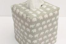 linen tissue box holders
