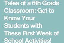 First Days of 6th Grade ELA